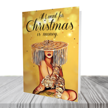 "Load image into Gallery viewer, Cardi B ""MONEY"" Christmas Card"