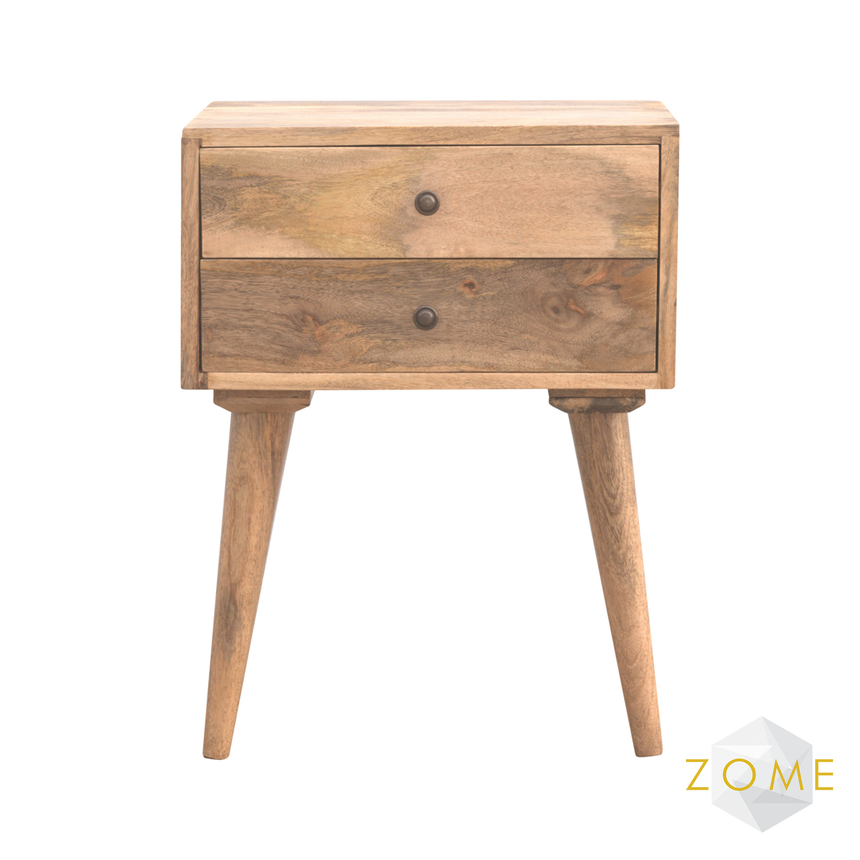 Allegro 2 Drawer Bedside Table - Zome Home ltd