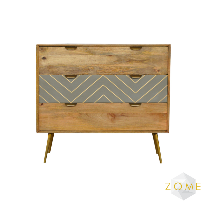 Caprio 3 Drawer Chest - Zome Home ltd