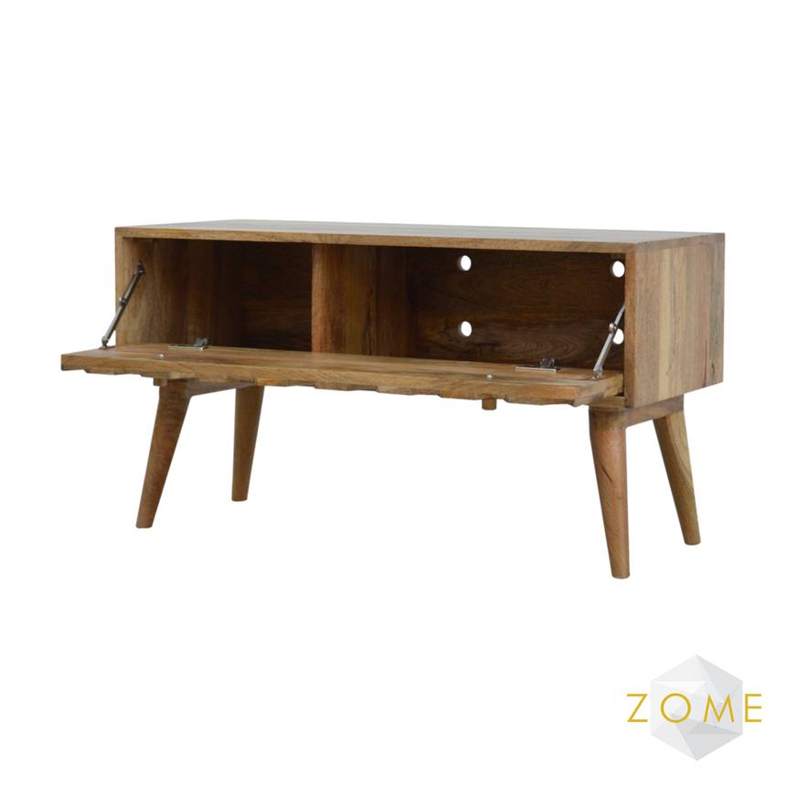 Adamas Hallway Storage Bench Mid Oak Finish - Zome Home ltd