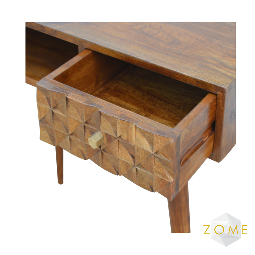 Adamas Writing Desk Chestnut Finish - Zome Home ltd