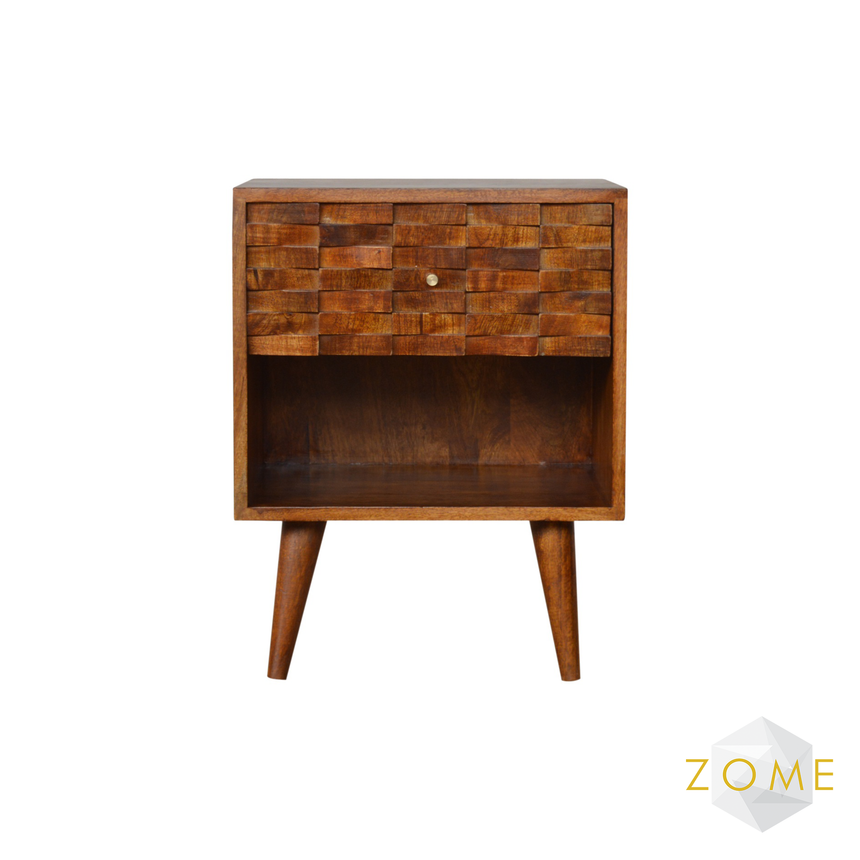 Amare 1 Drawer Bedside Table - Zome Home ltd
