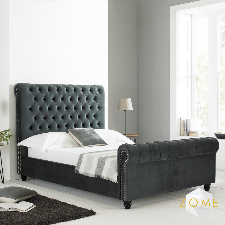 Benedict Chesterfield Bedframe - Zome Home ltd