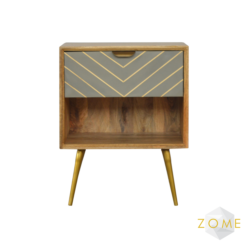 Caprio Bedside Table with Drawer - Zome Home ltd