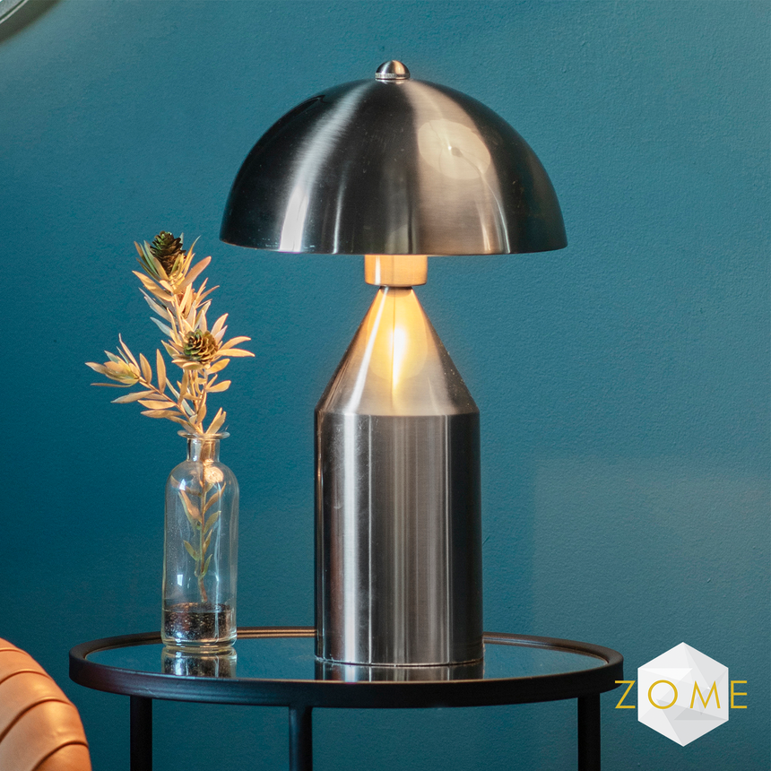 Celeste Table Lamp - Nickel - Zome Home ltd