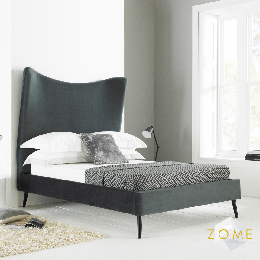 Flare Modern Curved Bedframe - Zome Home ltd