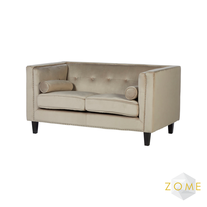 Gabriel Velvet 2 Seater Loveseat - Mink - Zome Home ltd