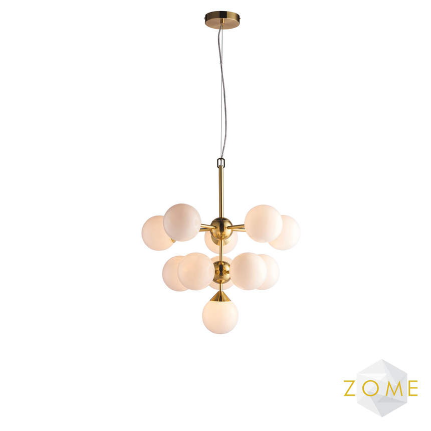 Globe Brushed Gold Ceiling Light - Zome Home ltd