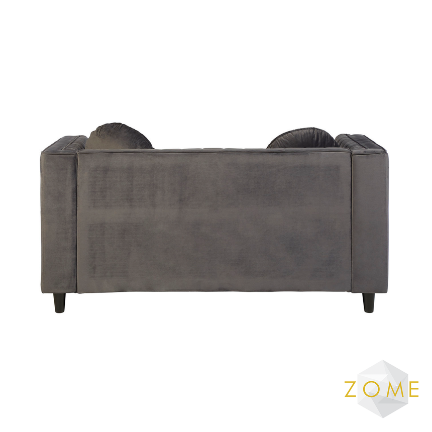 Hubble 2 Seater Grey Velvet Sofa - Zome Home ltd