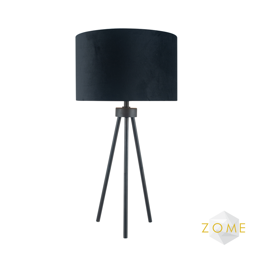 Benedict Tripod Table Lamp - Black - Zome Home ltd