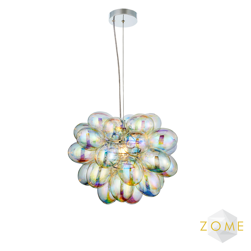 Orbit 1 Pendant Light - Iridescent - Zome Home ltd