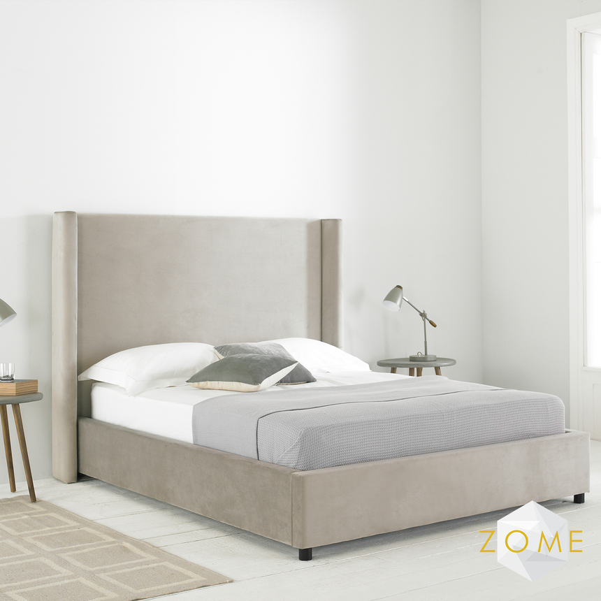 Stratus Winged Bedframe - Zome Home ltd