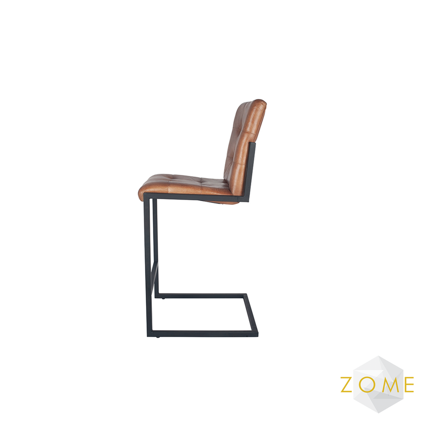 Urbis Leather Bar Stool - Zome Home ltd