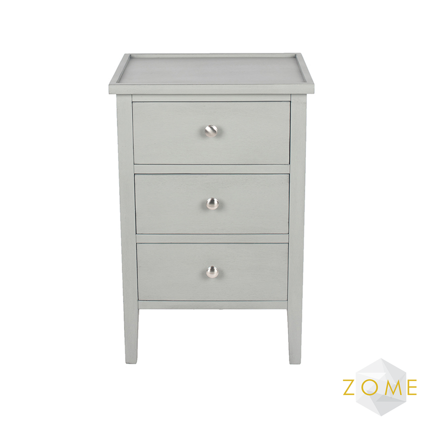 Versa 3 Drawer Chest - Grey - Zome Home ltd