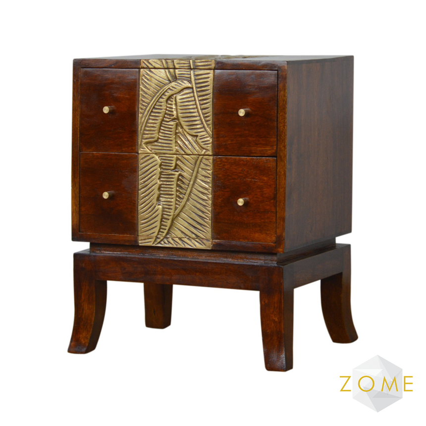 Orno 2 Drawer Chest - Zome Home ltd