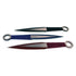 3 Piece Throwing Knife Assorted, Black, Blue, Red Color