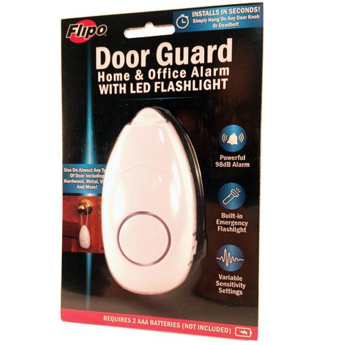Door Guard Home and Office Alarm With LED Flashlight