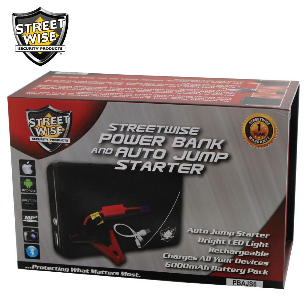 Streetwise 6k mAh Power Bank and Auto Jump Starter