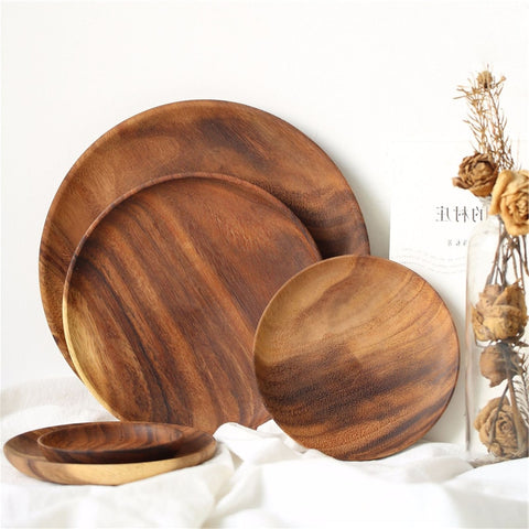 Wooden dining plates