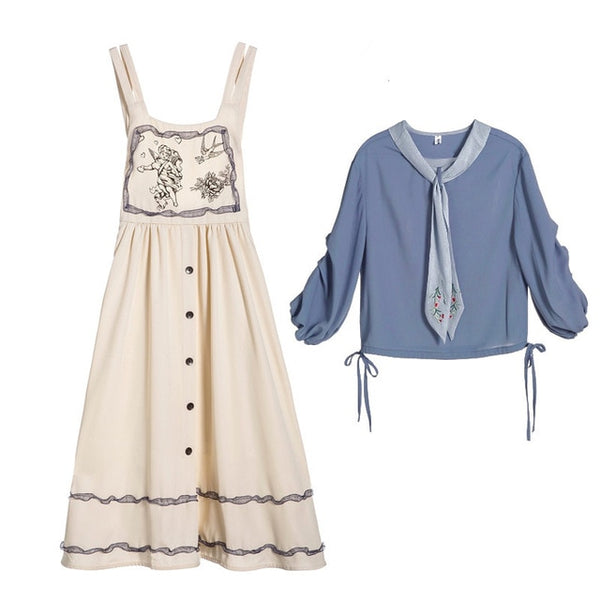 Melody apron & blouse set