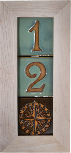 3 Tile House Number Frame