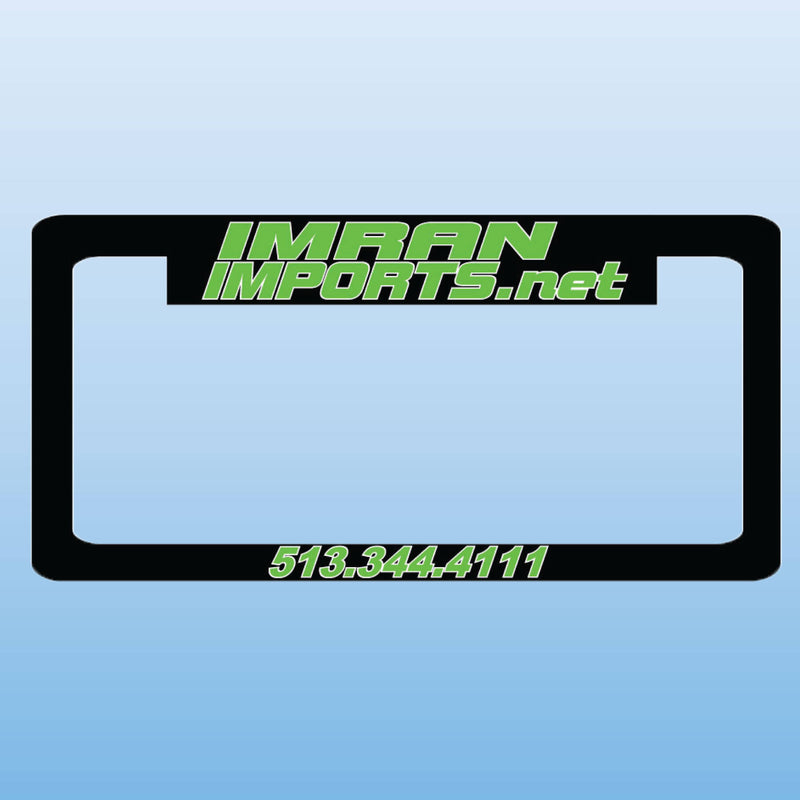 License Plate Frames Michigan Inverted Screened One Color