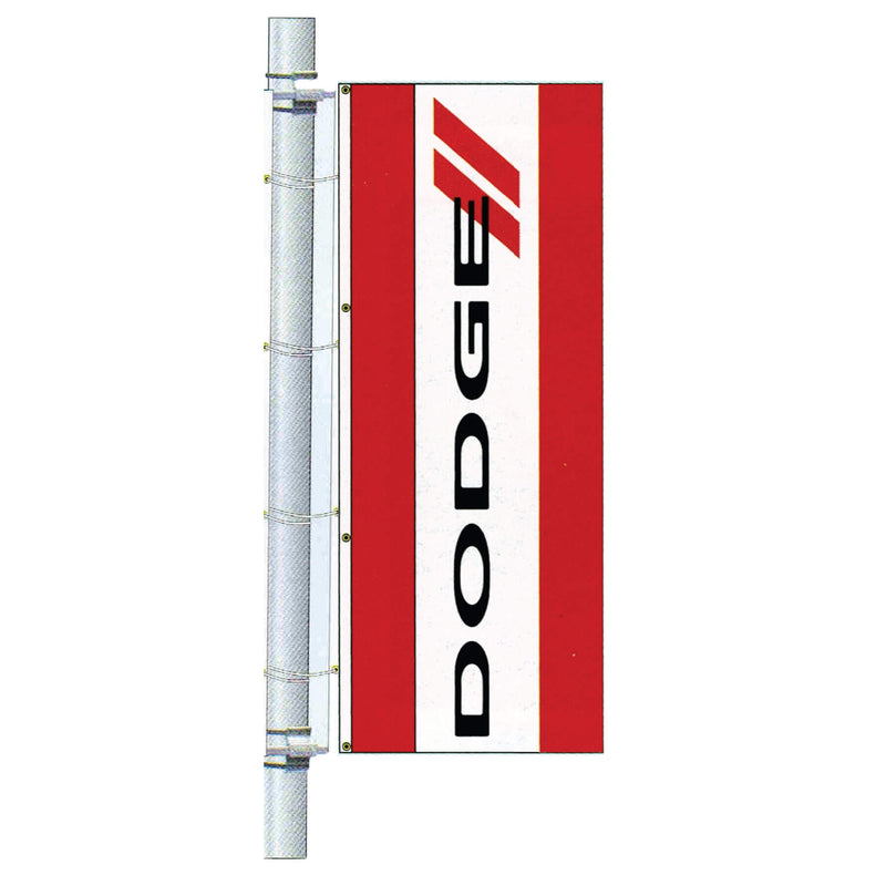 Double Faced Dealer Bracket Drape Flag