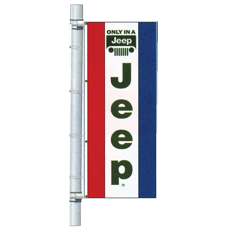 Double Faced Dealer Free Flying Drape Flag