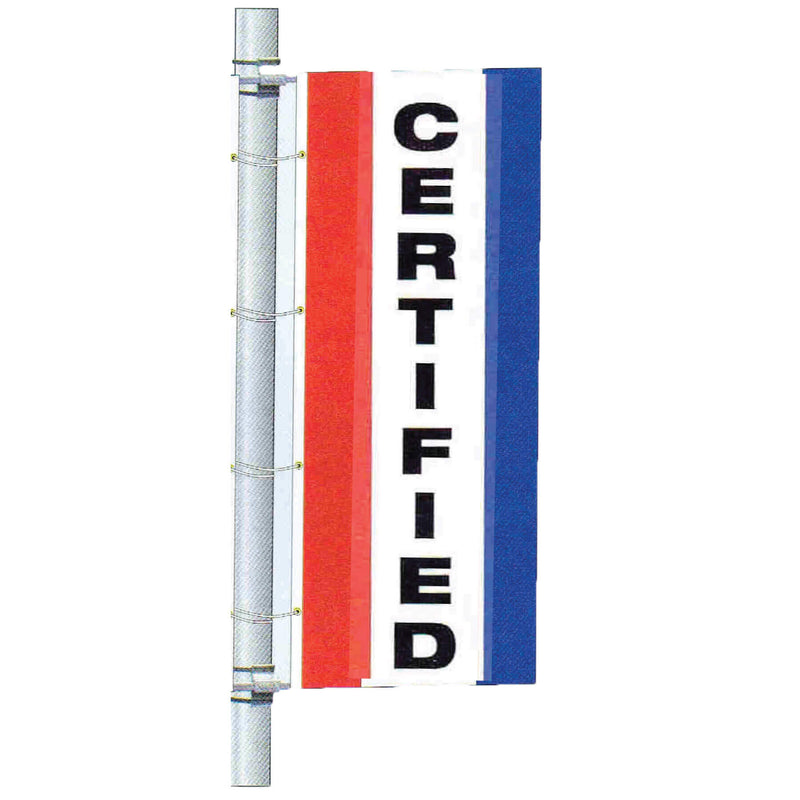 Single Faced Stock Message Bracket Drape Flag
