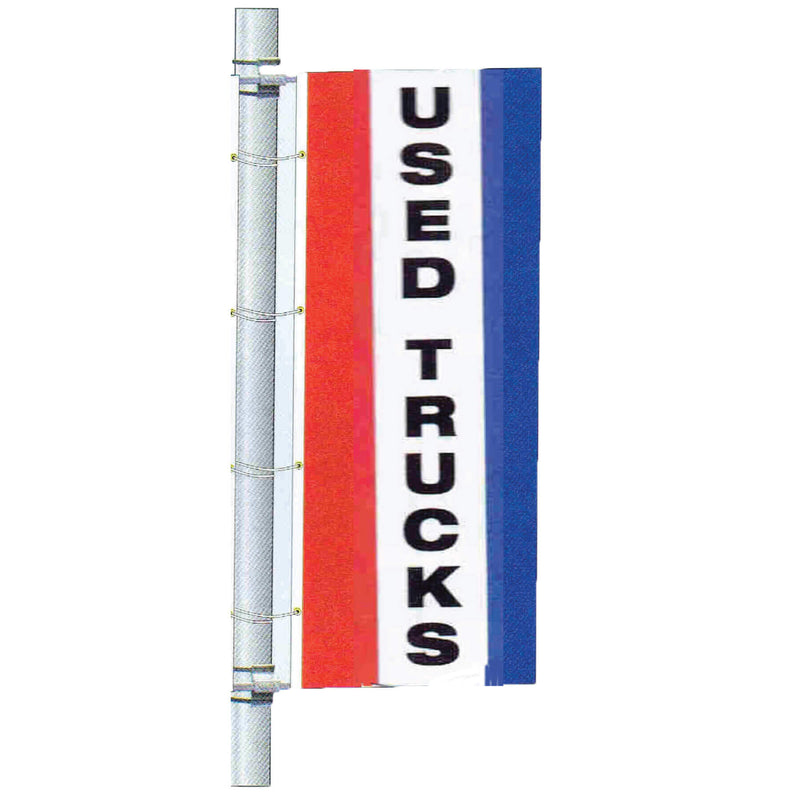 Double Faced Stock Message Bracket Drape Flag