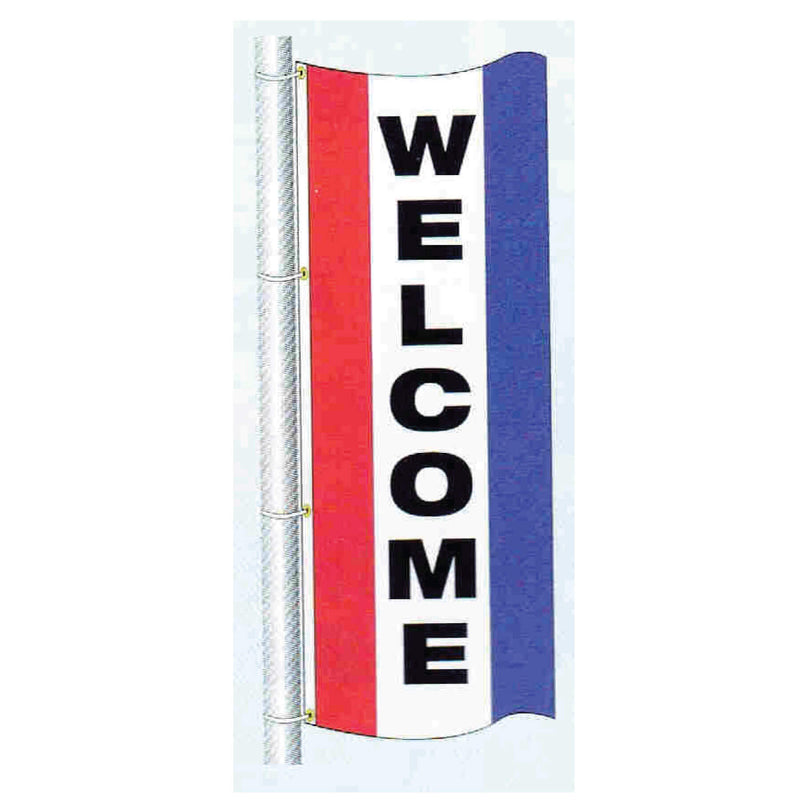 Double Faced Stock Message Free Flying Drape Flag
