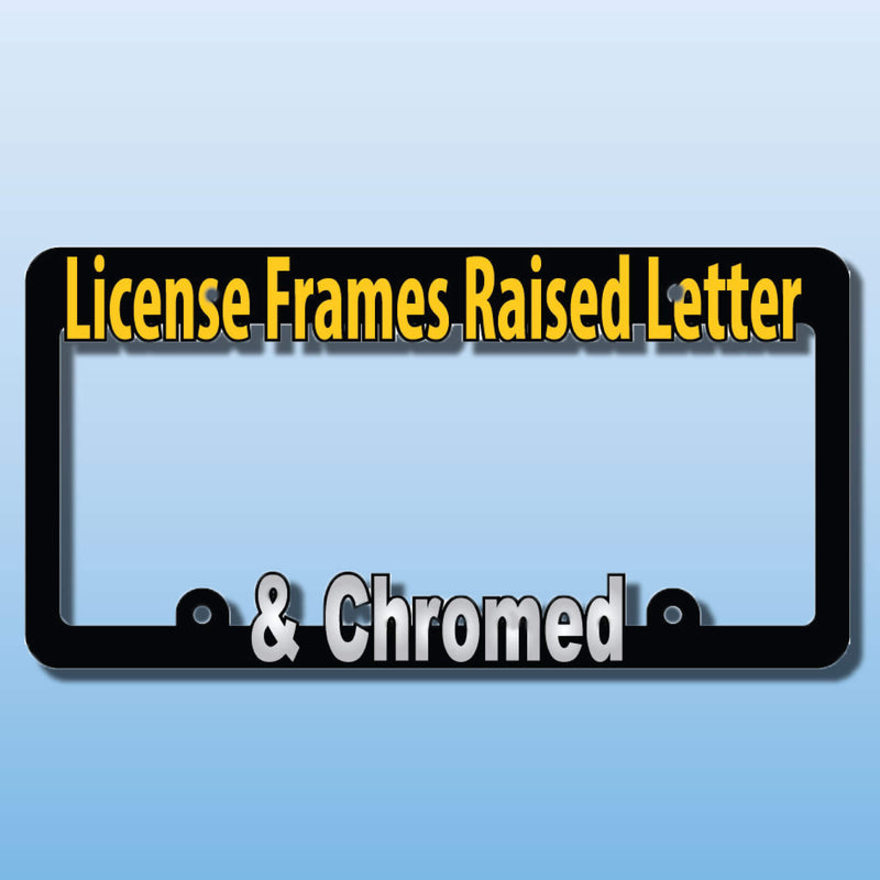 Raised Letter License Plate Frames California Inverted