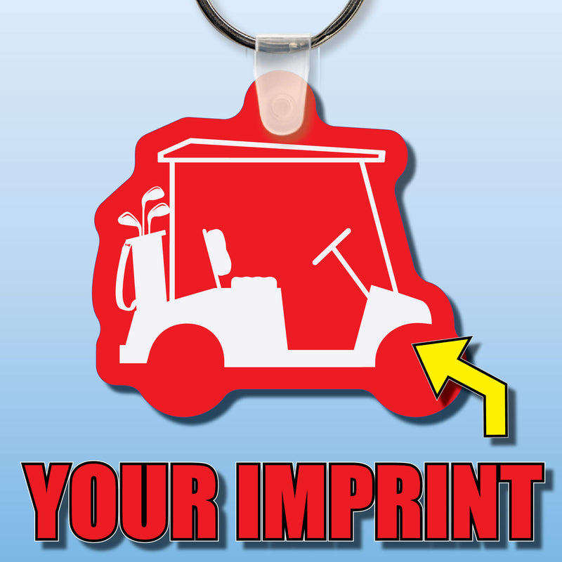 Soft Vinyl Custom Key Tags Golf Cart