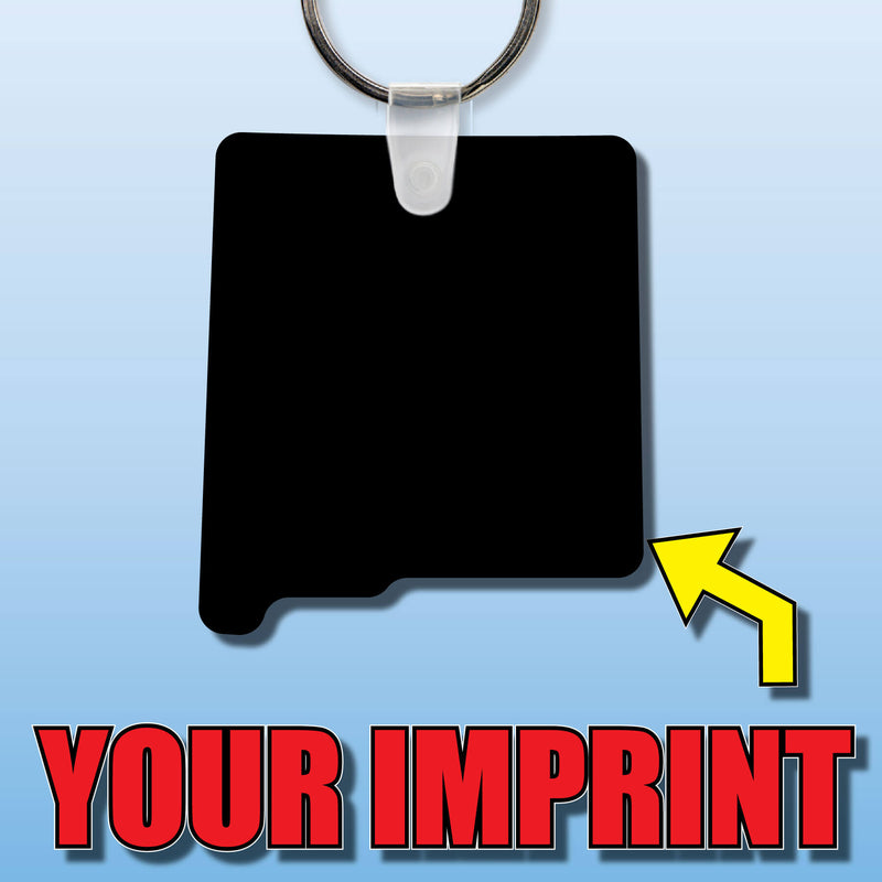 Soft Vinyl Custom Key Tags State Shape New Mexico