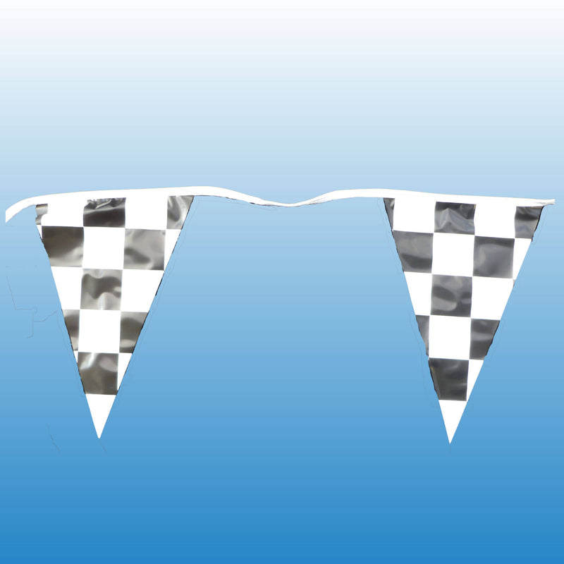 105' Checkered 4 Mil Poly Pennants