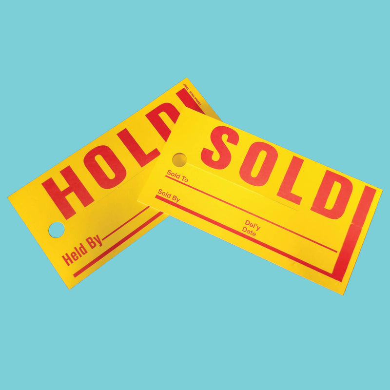 Hold Sold Tags Small