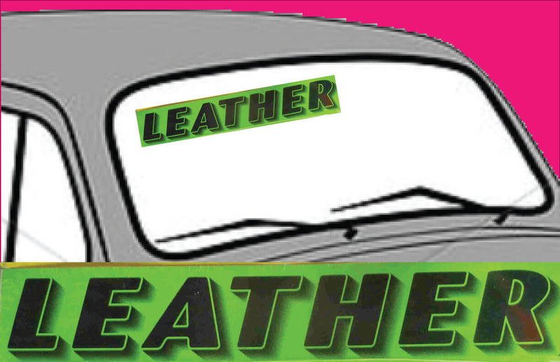 "Vinyl 14 1/2"" Slogans LEATHER chartreuce-green"