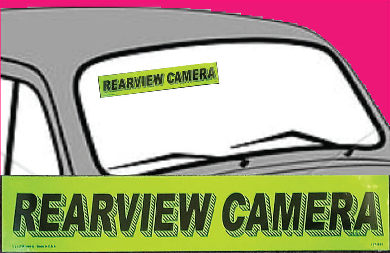 "Vinyl 14 1/2"" Slogans REARVIEW CAMERA chartreuce-green"