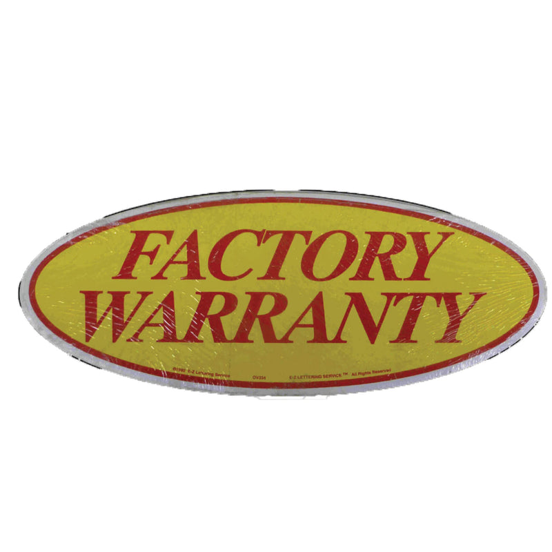 Vinyl Factory Warranty Red Yellow