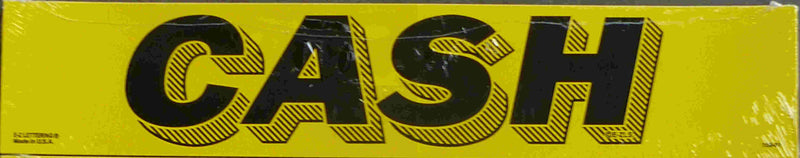 "Vinyl 14 1/2"" Slogans CASH yellow black"