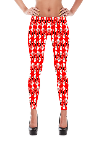 Who's That Girl Leggings Red