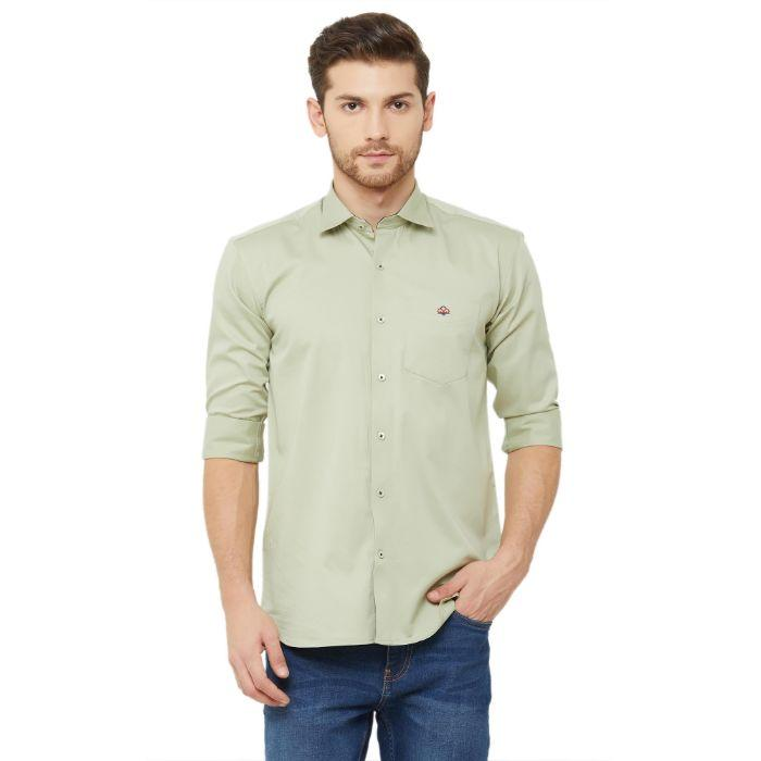 Men Pista Slim Fit Plain Casual Shirt - Donzell