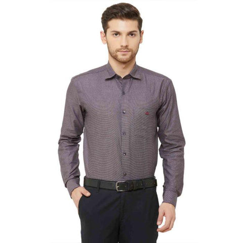 Men Brown Regular Fit Dotted Formal Shirt - Donzell