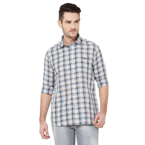 Men Multicolor Cotton Checked Regular Fit Casual Shirt - Donzell