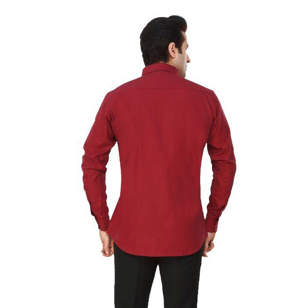 Men Red Solid Plus Size Formal Shirt - Donzell