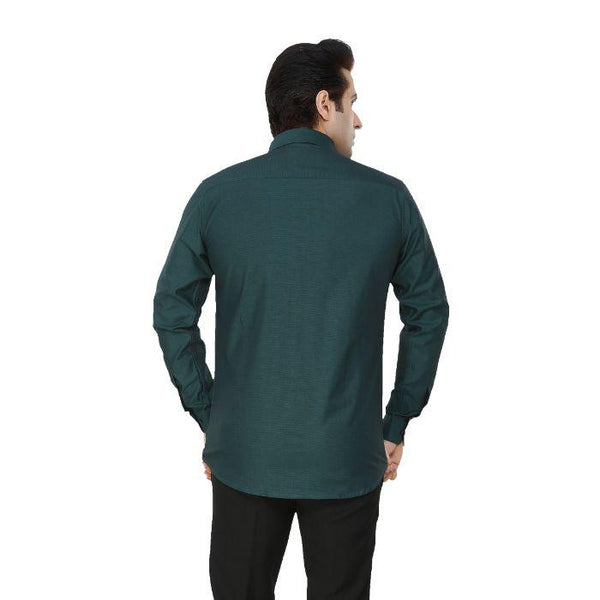 Men Green Solid Plus Size Formal Shirt - Donzell