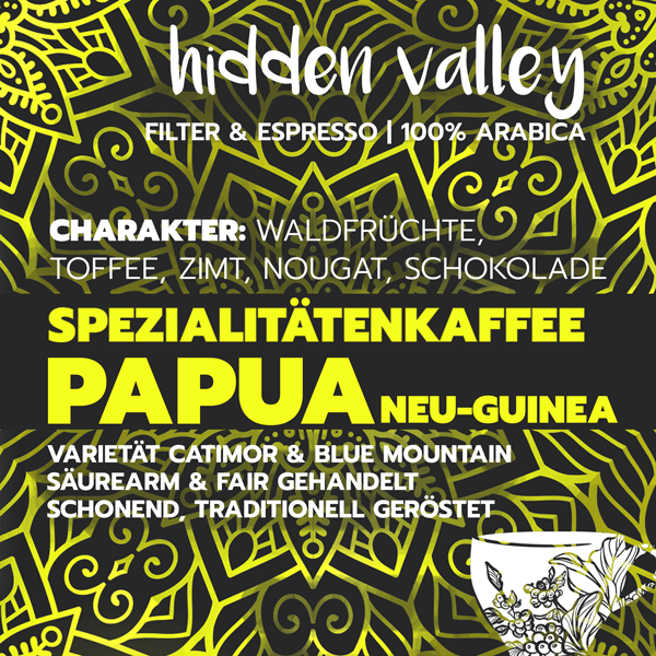 Hidden Valley, bio-zertifiziert, direct trade, 100% arabica - carabica - fine coffee culture