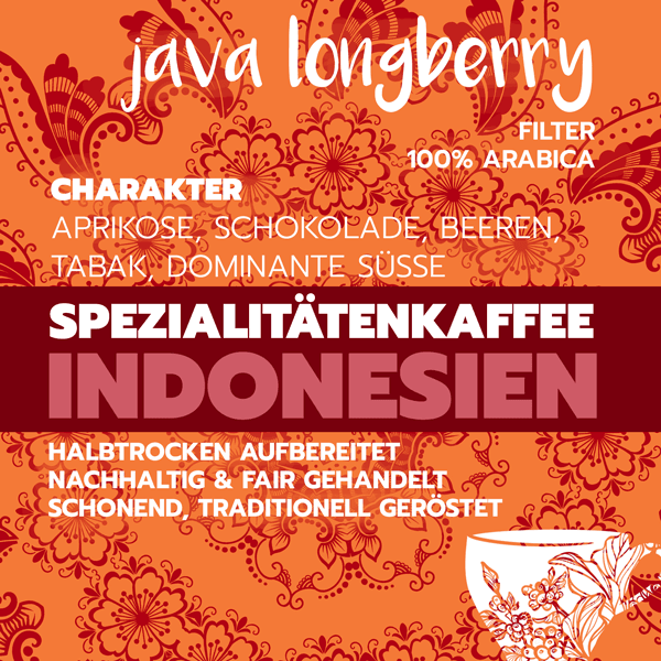 Java Longberry, Exotik pur, 100% arabica - carabica - fine coffee culture