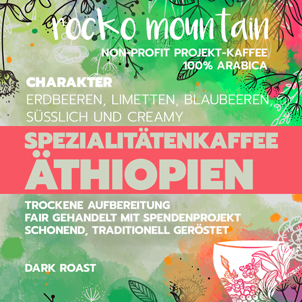 Rocko Mountain, dark roast, Projektkaffee, 100% arabica - carabica - fine coffee culture