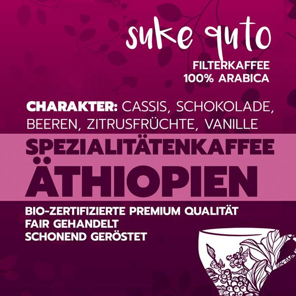 Suke Quto, direct trade & bio-zertifiziert, 100% arabica - carabica - fine coffee culture